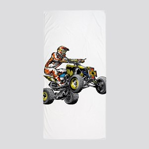 ATV Quad Racer Freestyle Beach Towel